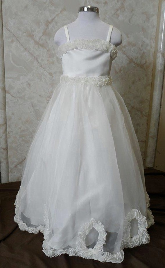 miniature flower girl wedding dress $50