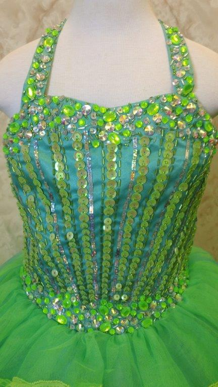heavily beaded sequin and stone bodice