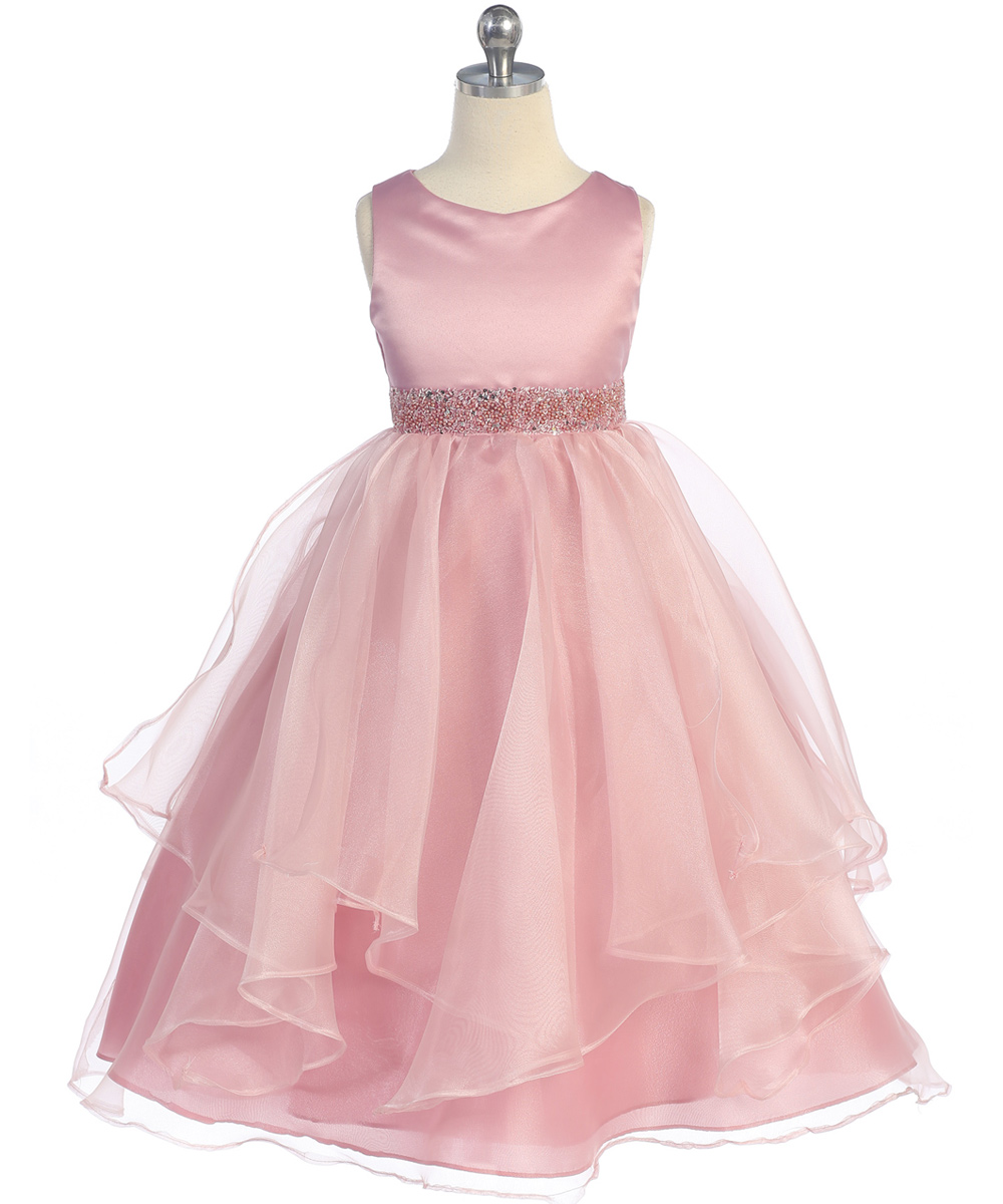 dusty rose flower girl dresses