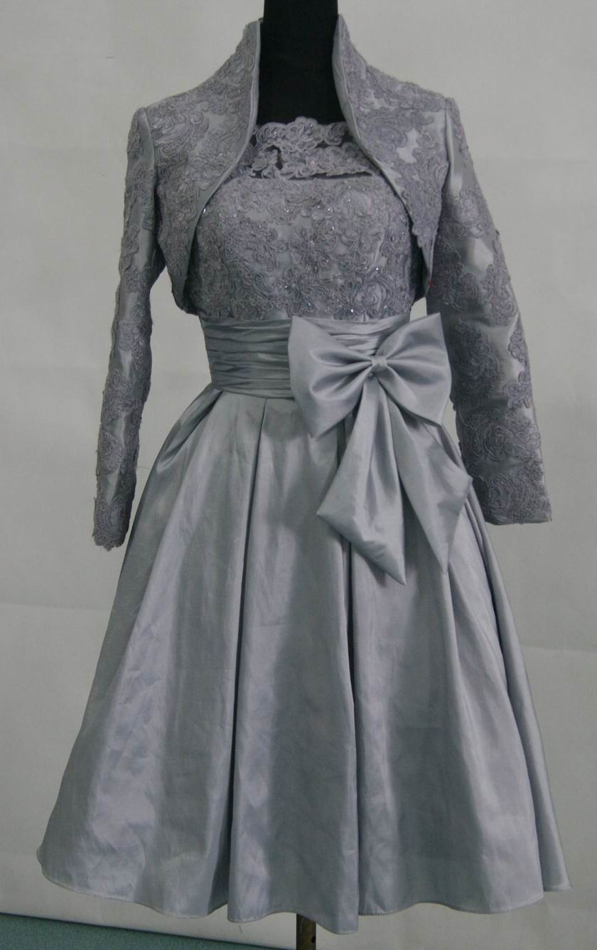 ladies silver special occasion dresses with jacket