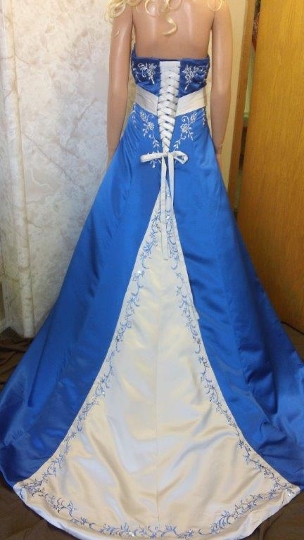 Wedding Dresses Royal Blue Accents 67