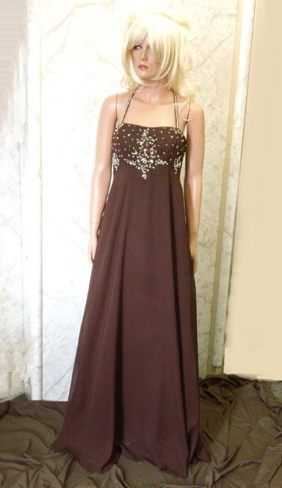 chocolate brown wedding gown
