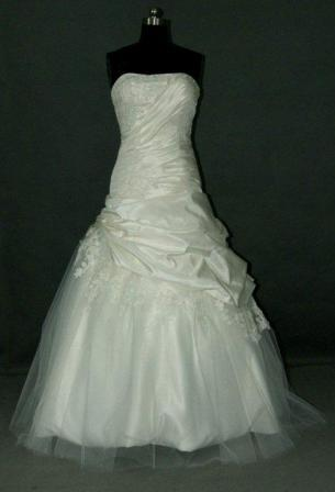 asymmetrical wedding gown