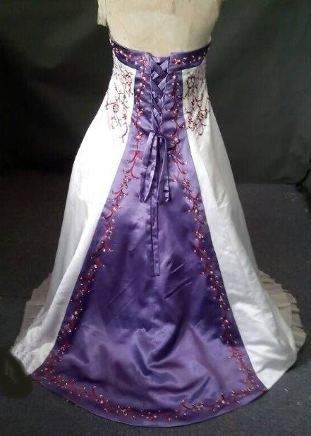 violet matching flower girl dress