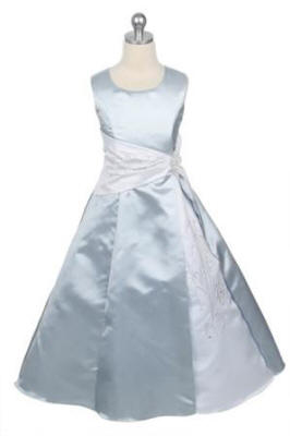 girls size 10 white satin dress $40