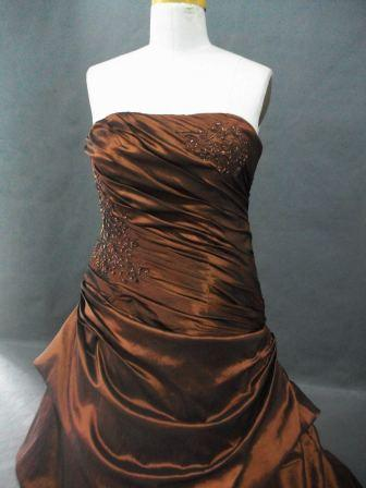 New Knockout Amber Taffeta Ball Gown