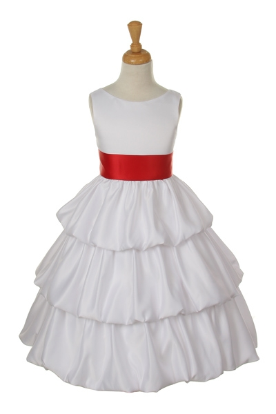 white dress red sash