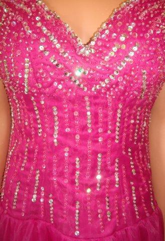 Hot pink junior pageant dress