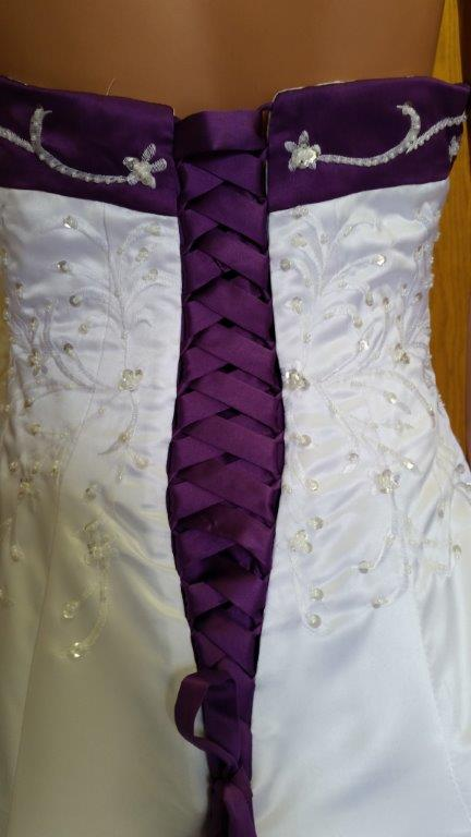 Royal purple and white wedding dresses for Royal purple and white wedding dress