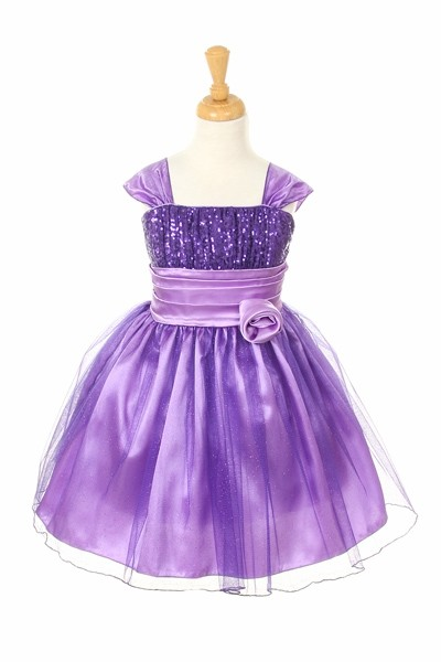 short purple glitter dress