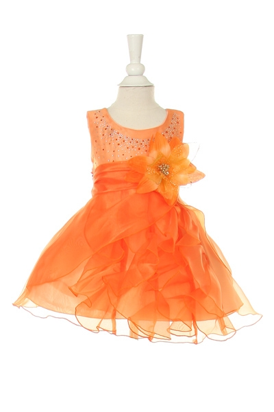 orange girls dresses