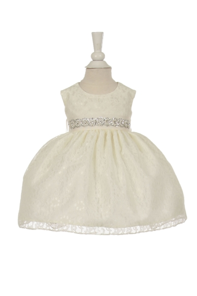 infant and girls ivory lace dress
