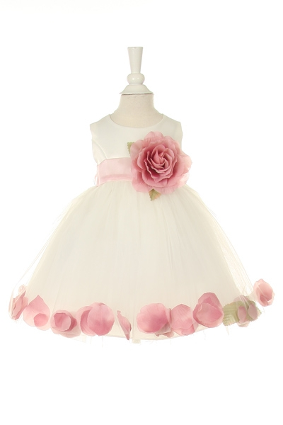 dusty rose petal dresses for girls