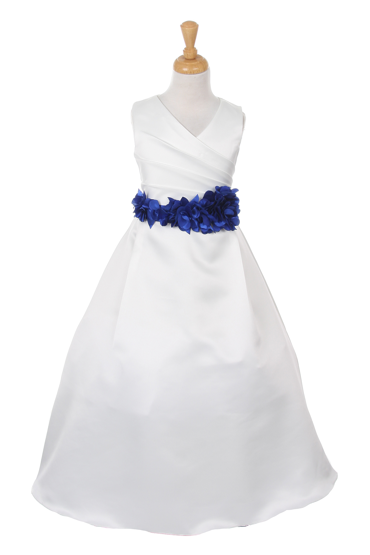 royal blue flower sash