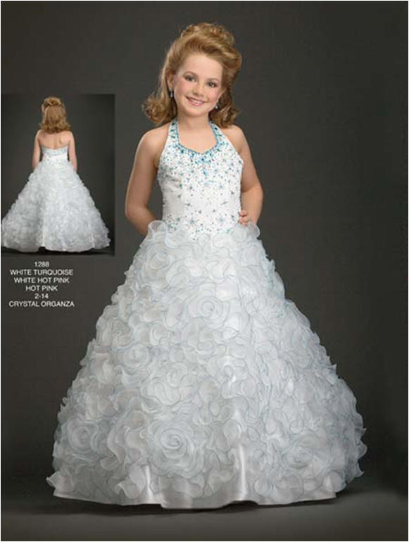 Rosette Pageant Dress