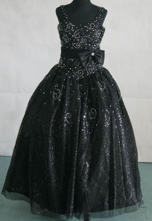 black sequin pageant dress