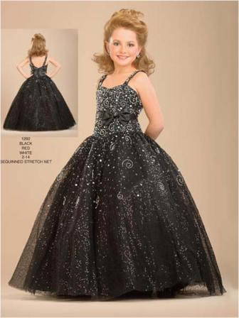 size 8 girls black ball gown