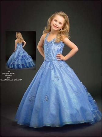 Ruffled pageant dresses