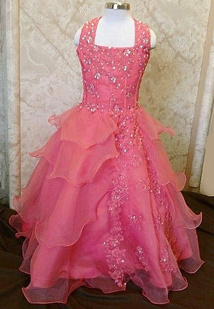 Organza pageant ball gown