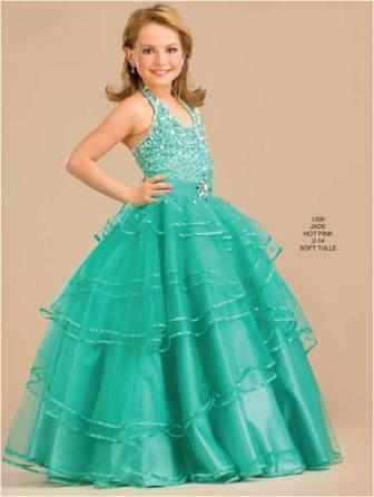 Multi layered pageant gown