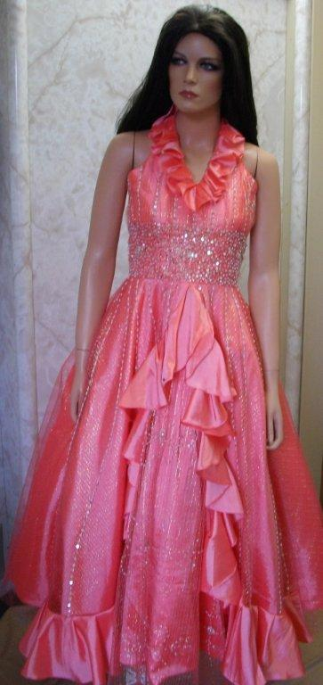 Size 14 coral pageant dress