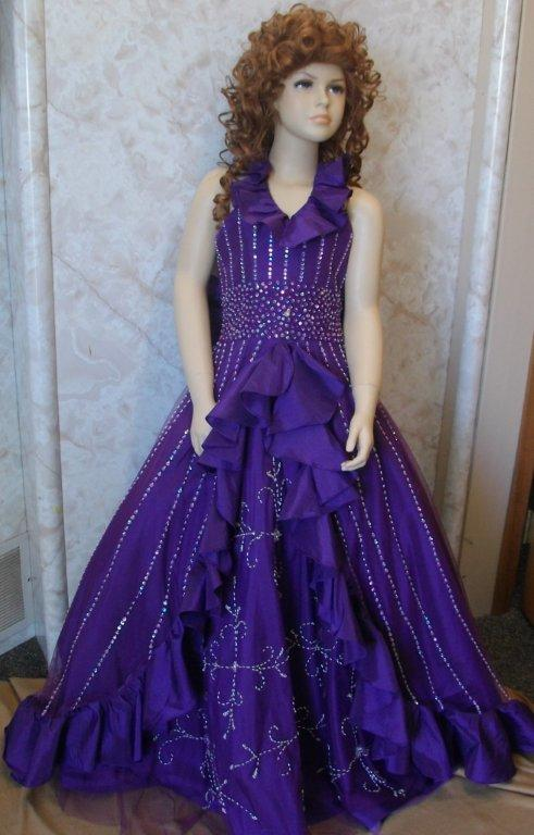 purple grape pageant dress