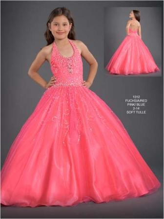 Preteen long pageant dress