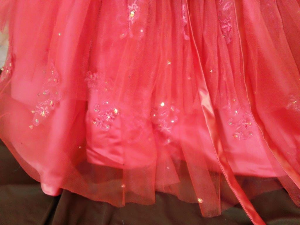 coral pageant dress skirt