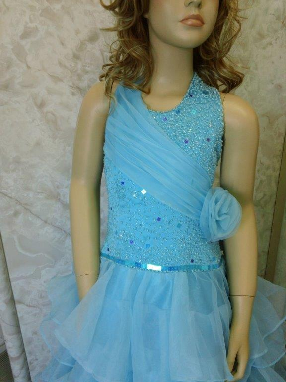 pool blue pageant dress