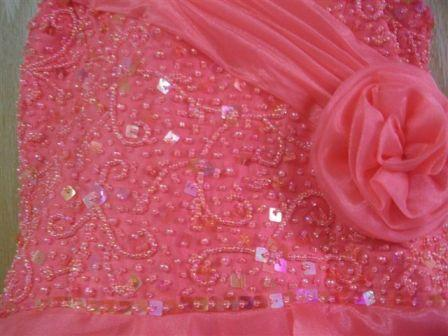 Coral girls pageant dresses