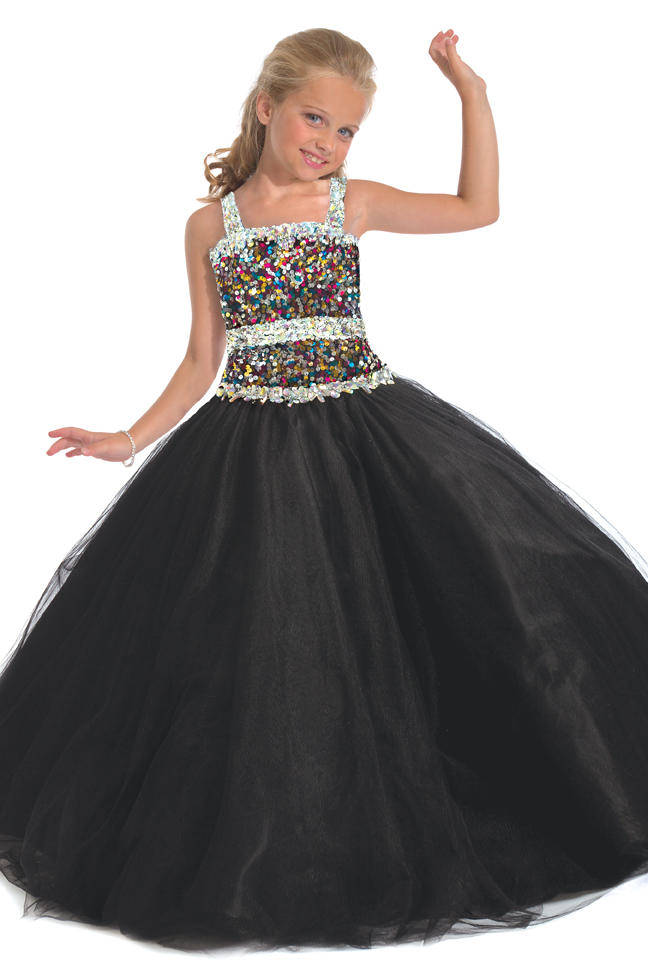 size 4 black pageant dress