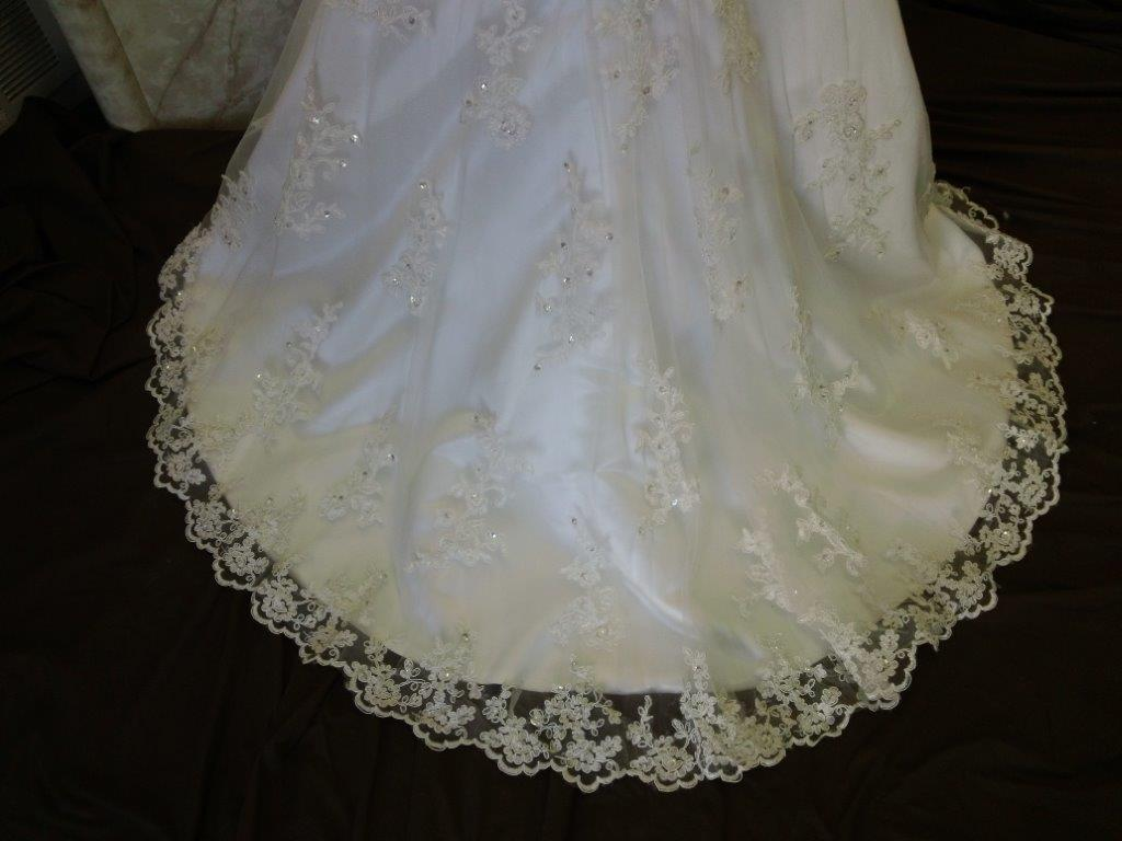 lace flower girl dress train