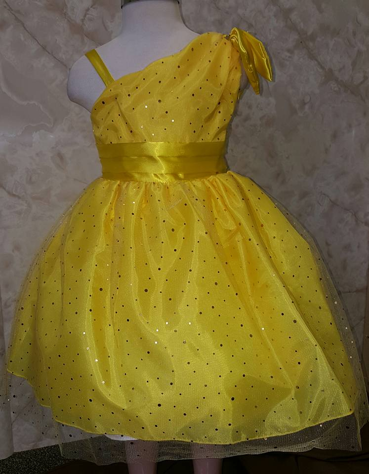 yellow princess dress for girls