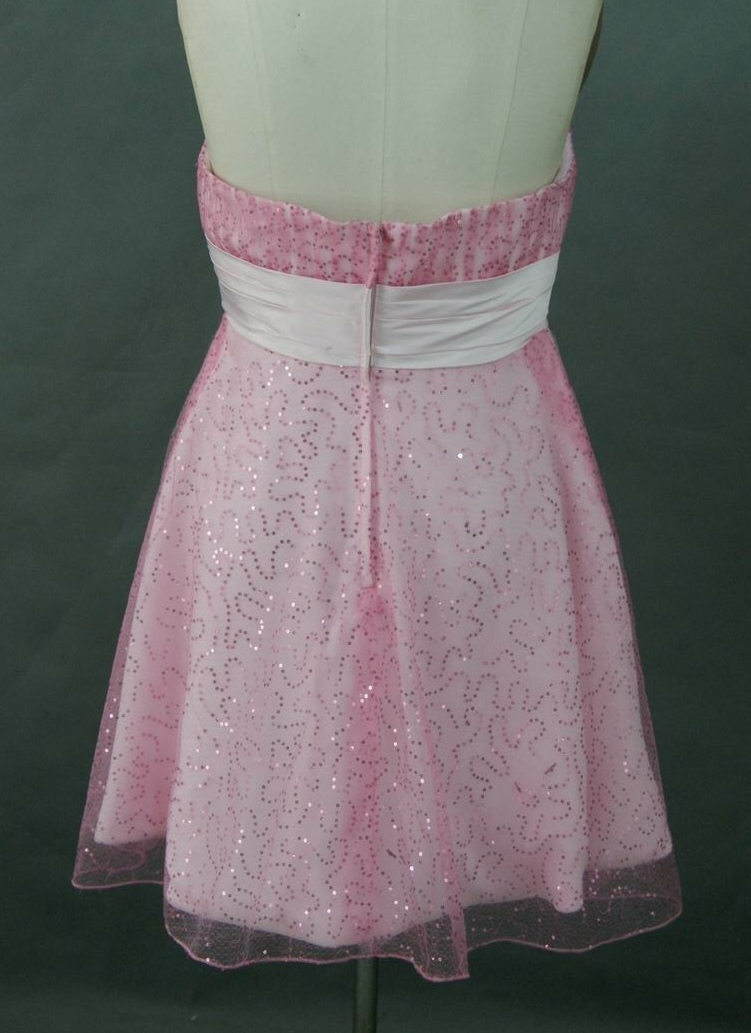 pink short bridesmaid dress