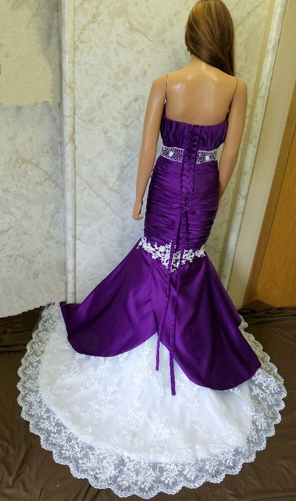 purple bridesmaid mermaid dresses
