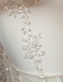 Beaded applique straps