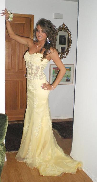 Yellow pageant gowns
