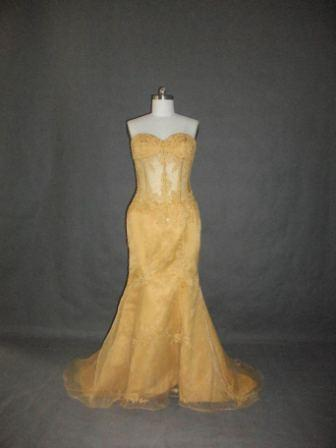 gold see through corset dresses