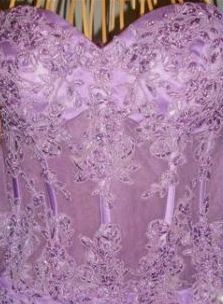 violet corset prom dress