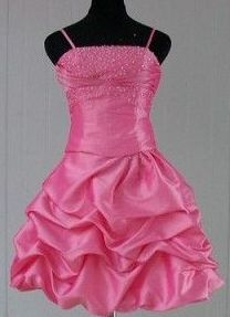 bubble gum pink pick up dress
