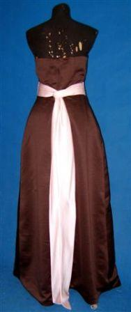 Chocolate Brown with sweet pea pink sash