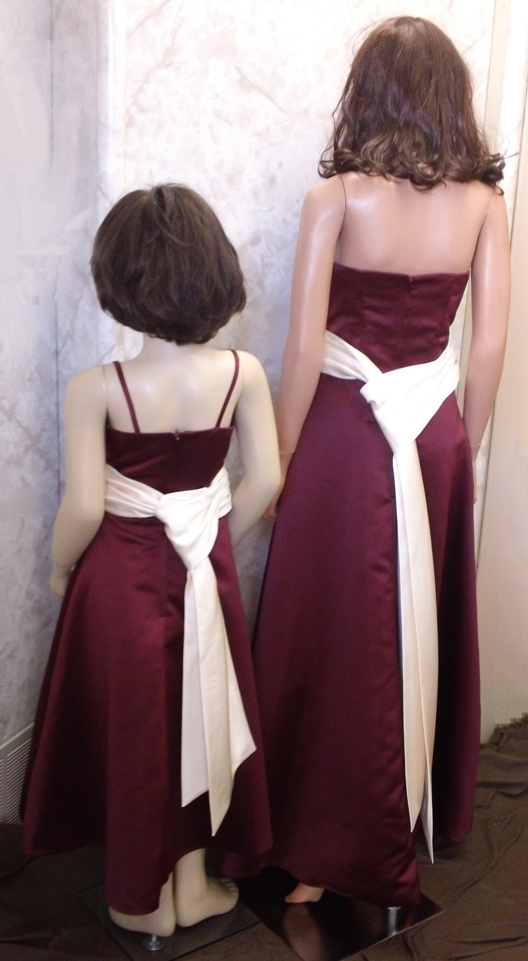 merlot and champagne dresses