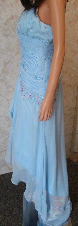 Sky blue evening dress