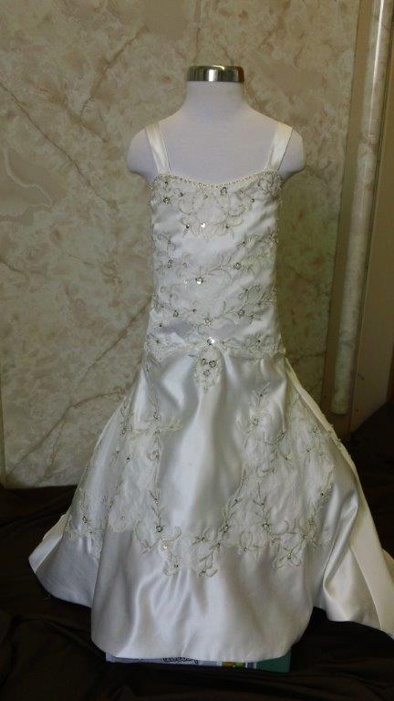 dropped waist flower girl dress
