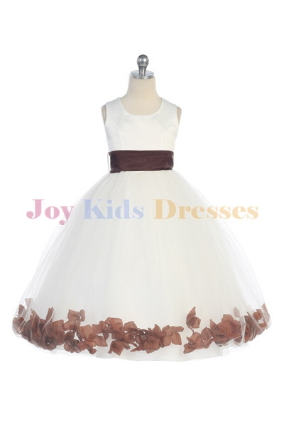 kids brown dresses