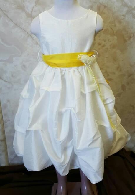 size 4 ivory and yellow