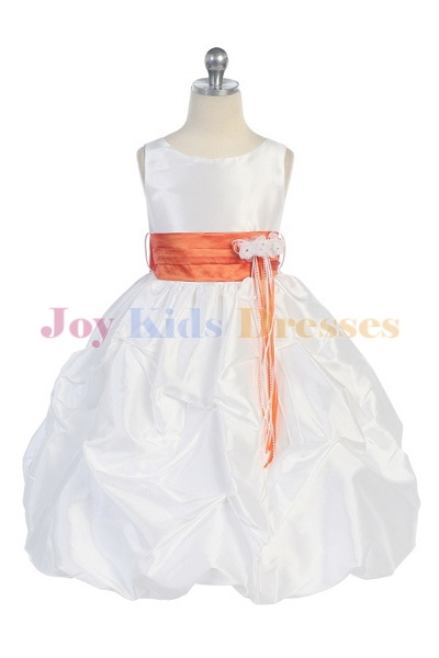 white/coral Girls Holiday dress Sale with pick up skirt