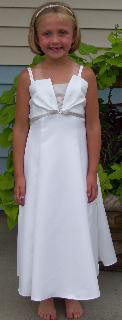 Child  size  2, 4,  8, 12, 14 & 16 Ivory/taupe dress sale $40.00