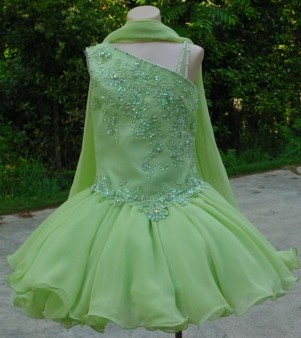 green pageant dress