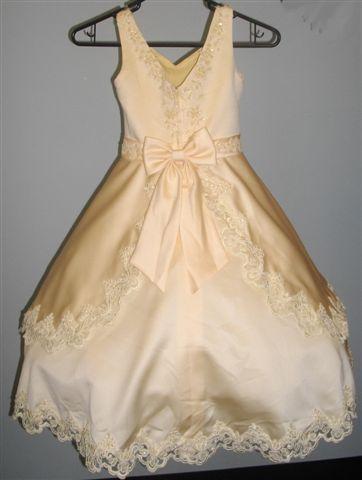 Layered yellow flower girl dress hoop skirt for dance team mightylinksfo